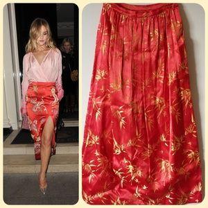 Dresses & Skirts - Vtg 50s embroidered a-line skirt